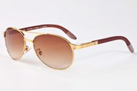 Wholesale Elegant Wooden - luxury brand oversized sunglasses 2017 fashion vintage designer wooden sunglass for female UV400 gradient elegant eyeglasses top quality