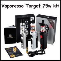 Wholesale Ceramic Gifts Wholesale - High Quality Vaporesso TARGET VTC 75W Starter Kit With Ceramic cCELL Tank Coil Temperature Control Mod Gift Box VS Kanger Topbox mini