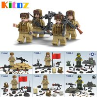 Wholesale Wholesale Plastic Military Figures - Kitoz 2017 New the Korean War Sino-Japanese Chinese Eighth Route Army Military Building Block Mini Toy Figures Collection 71008