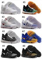 Wholesale Men S Kd Shoes - Wholesale KD 10 X Oreo Still Zoom KD10 Anniversary Black Grey White Chrome Pure Platinum Mens Basketball Shoes Sport Basket ball Sneakers s