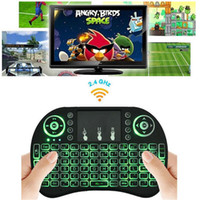 Rii I8 Fly Air Mouse Mini Teclado Inalámbrico Handheld Contraluz 2.4GHz Touchpad Control Remoto para X96 S905X S912 TV BOX Mini PC OTH500