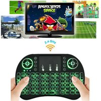 2.4GHZ Laptop USB Rii I8 Fly Air Mouse Mini Wireless Handheld Keyboard Backlight 2.4GHz Touchpad Remote Control For X96 S905X S912 TV BOX Mini PC OTH500
