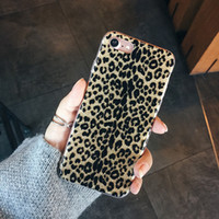 Wholesale Leopard Silicone Iphone Case - for iPhone 7 Case Glitter Sexy leopard print Soft TPU Cover for iPhone 6 6s 7 Plus Silicone Bling Phone Cases