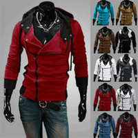 Wholesale Desmond Miles Hoodie Jacket - Autumn Winter Clothes Jacket Sweater Men's Cardigan Hoodies Slim Men Hooded Outerwear 7 colors M-6XL Assassin's Creed Desmond Miles Style