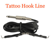 Wholesale Free Clip X - 1 x Tattoo Clip Cord For Tattoo Gun Ink Tip Machine Tattoo Power Supply stainless steel ends Line Tattoos Accessaries free ship