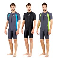 Wholesale Man Diving Suit - HXBY Man Boys fastskin Waterproof Sport Competition Racing Spandex Body suit Swimming Wetsuits Diving Suit Free Shipping-516