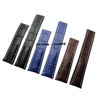 Wholesale 22mm Genuine Crocodile Watch Strap - 22mm 24mm High quality watchband Black Brown Blue Crocodile lines Genuine Leather watch band strap for Breitling 724P 739P 756P 746P 743P