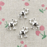 Wholesale Camel Silver Charms - 76pcs Charms lovely camel 15*14mm Antique Silver Pendant Zinc Alloy Jewelry DIY Hand Made Bracelet Necklace Fitting