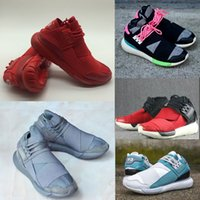 Wholesale Y Shoes Men - 2017 New Running Shoes Y-3 QASA RACER Hight Cheap Sneakers Breathable Men and Women sport Shoes Couples Y3 Outdoor Trainers EUR36-45