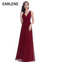 Wholesale Sexy Party Dresses New Arrival - 2017 New arrival sexy party evening dresses A-line appliques beading gown V-neck dress Formal dress Cheap
