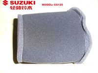 Wholesale Spare Parts For Motorcycles - 10pcs pack GS125 Sponge Foam Motorcycle Air Filter for GSX-3 Qingqi Suzuki Wholesales Motorcycle Spare Parts