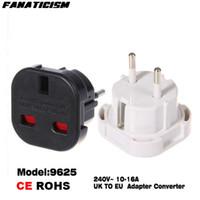 Wholesale European Socket Power Converter - Universal Travel AC Power Socket 9625 UK To EU Adapter Converter Plug Electrical Plug European safety switch plug