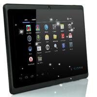 android tablet großhandel-Großverkauf-7 Zoll Q88 Android 4.2 kapazitiver Tablette PC-Doppelkameras 4GB A23 1.2GHz WiFi + 3G Doppelkern