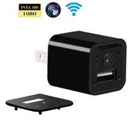 Wifi Spy Camera Nascosta Camera 1080P HD USB P2P WiFi Wifi AC Wall Adapter Camera Sicurezza Nanny Cam Supporto iPhone APP APP View Remote