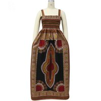 Wholesale Shenbolen summer fashion African dresses for women sleeveless Condole belt maxi dress dashiki wax print ankle length plus size S XL