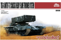 Wholesale 72 Models - Wholesale- 1 72 Tank Model toy Russia army TOS-1A with T-72 chassis heary flame thrower system model building kits toy