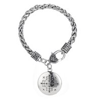 Wholesale Egyptian Amulets - Fashion Papa Legba Voodoo Loa Veve Death Egyptian Jewelry Amulet Pendant Lwa Cool Original Bracelet for man and women