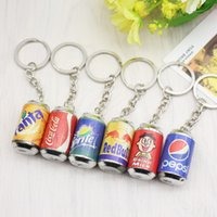 Wholesale Lovely Boys Photos - Korea creative personality lovely small gifts cola beverage cans Sprite Key Chain Pendant Gift wholesale All kinds of small gifts