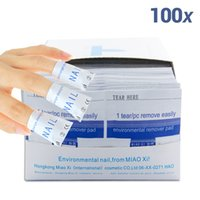 Wholesale Gel Uv Clean - 2015 nail polish remover 100Pcs lot Nail Art gel polish Lacquer Easy cleaner gel nail Wraps UV Gel Remover Nails Care tools