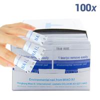 Wholesale Uv Gel Nail Care - 2015 nail polish remover 100Pcs lot Nail Art gel polish Lacquer Easy cleaner gel nail Wraps UV Gel Remover Nails Care tools
