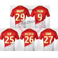 Wholesale Monaco Red - 2017 18 AS MONACO FALCAO MBAPPE LEMAR camisetas futbol camisa de futebol maillot de foot survetement football kit uniform SOCCER JERSEY