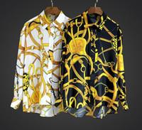 Wholesale Europe Woman S Ladies Blouses - 2017 Print Long Sleeves Turn-Down Collar Print 100% Real Silk Lady Top Blouse Summer Fall Europe Brand Design Women Shirt XXJ85