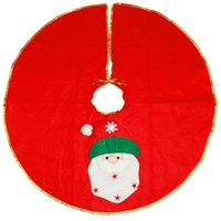 xmas etekler toptan satış-90 cm Noel Baba Kardan Adam Ağacı Etek Yılbaşı Ağacı Etek Yılbaşı Ağacı Dekorasyon Noel Malzemeleri Ücretsiz Kargo ZA5013