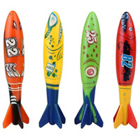 4pcs set Multicolor Diving Toypedo Bandits Underwater Dive Rocket Piscine Jouets Piscine Jouets d'été