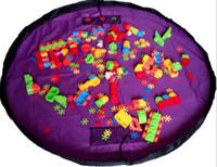 grand tapis de jeu pour bébé achat en gros de-Portable 150 cm Enfants Enfants Bébé Bébé Tapis De Jeu Grand Rangement Sacs Jouets Organisateur Couverture Tapis De Rugissement pour tous les cadeaux Jouets