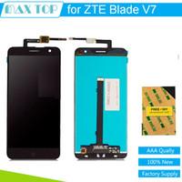 zte değiştirme toptan satış-Toptan-100% test ZTE Blade V7 LCD Meclisi Için Ekran + Dokunmatik Ekran Paneli ZTE V7 Telefon Için yedek parçalar
