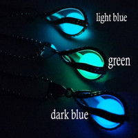 Wholesale Luxury Statement Drop Necklace - luxury Screw fluorescent luminous water drop lover locket Pendant statement necklaces for girls Jewelry