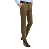 Wholesale Casual Denim Suits For Men - Wholesale- 2016new spring summer men's business casual pants 100% cotton men's fashion straight trousers suit pants High qualiy for man