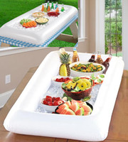 Wholesale Server Storage - Inflatable salad serving Bar Cooler Buffet Salad Picnic Ice Food Server Drink Tray Ice Cooler Picnic Drink Table Party Picnic Storage Trays