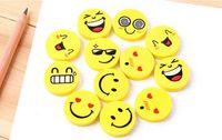 ingrosso gomma gomma carina sorriso-Eco-friendly Scuola Forniture Carino volto sorridente Gomme Emoji Eraser Sorriso bella Eraser Funny Face Eraser sorriso stile gomma regalo bambini