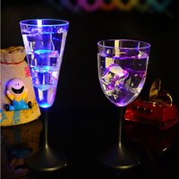 Wholesale Led Drinking Glasses Wholesale - Crystal Wine Glass LED Flashing Light Champagne Beer Glass Of Drink Juice Personalized Wine Glasses Luminous Induction Liquid Container