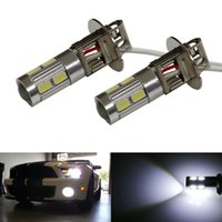 """Wholesale Brightest Led Driving Lights - new 880 893 h3 """"BRIGHTEST"""" Xenon White 10-SMD LED 5630 Fog Lamp Driving Lights DRL with lens"""