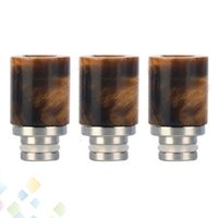 Wholesale Newest Dct Atomizer - Newest Turquoise Drip Tips God eyes drip tips Stainless Steel Wide Bore 100% Jade drip tips for 510 EGO DCT Atomizer DHL Free