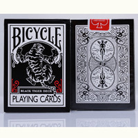 Wholesale Play Tiger - Bicycle Black Tiger Ellusionist Playing Cards 88*63mm Magic Category Poker Cards for Professional Magician