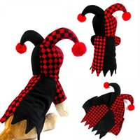 Dog Costumes Fall/Winter Mardi Gras For Pet Dog Apparel Christmas Halloween Party Cosplay Suit The Clown Costume Novelty Fashion Puppies Poodles Coats Cat Brand Clothing