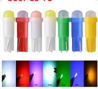 Wholesale Led T5 1w - 100X T5 1SMD COB Instrument Bulb 1W LED Dashboard Lights Ceramic Gauge LED Gauge Side Wedge Light bulb
