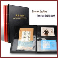 Wholesale Frosted Leather Small Postage Collection Album Book Settled Inner Pages For Mixed Lines Drop Shipping