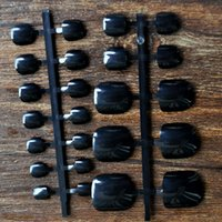 Wholesale Fake Foot Nail - Wholesale- 24pcs Fake Feet Toenail Toe Nail Art Acrylic UV Gel Tips DIY Sexy Black Toes B