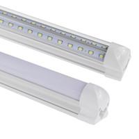 ingrosso congelatore principale-5FT LED Tubo T8 Lampadina Integrata 2ft 3ft 4FT 6FT 8ft a forma di v tubo a led di Raffreddamento Porta Freezer LED Tubo Luce AC85-265 V