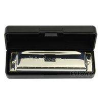 Wholesale Swan Harmonicas - 1pc Silver Swan Harmonica 10 Hole Key of C for Blues Rock Jazz Folk Harmonicas New