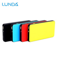 Wholesale Engine Gas - LUNDA Ultra-Slim 300A Peak 6000mAh Portable Car Jump Starter for Gas Engine up to 2.5L Auto Battery Booster Charger Power Bank