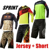 Wholesale Tld Downhill - Wholesale-2017 Jersey&Shorts TLD Suit Moto GP Motocross Set Downhill Combo MTB Motorcycle Racing Mountain Bike Bicycle Cycling Suit