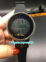 Wholesale Custom Digital Watch - AAA Luxury 44mm YA114207 Black Mens Custom Digital Custom Luminescent Electronic Rubber Strap Watch Men's Watches