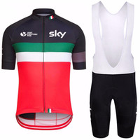 Wholesale Sky Jersey Bibs - 2017 New 4 Colors SKY Team Men's Cycling Jerseys Set, Summer Bicycle Clothing Men Bicycle Clothing Bike Clothes Bike Jersey + Bib Shorts.