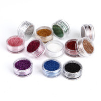 Wholesale Acrylic Set For Nails - 12 Color set Glitter Dust Powder 3D Nail Art Decoration for French Acrylic UV Gel Fingernail Fashion Design