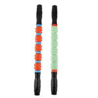 "Wholesale Exercise Sticks - Wholesale-2016 New 20"" GYM Exercise Roller Leg Body Arm Back Shoulder Muscle Massager Stick Hot Selling"